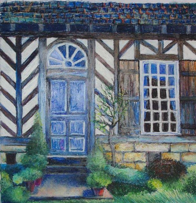 Pastel d 39 opale michel ducrocq for Porte normande